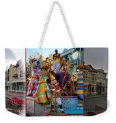 Early Morning Main Street With Mickey Walt Disney World 3 Panel Composite Weekender Tote Bag