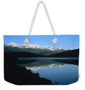 Early Morning Mountain Reflection Weekender Tote Bag