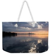 Early Morning Reflections - Lake Ontario And Downtown Toronto Skyline  Weekender Tote Bag