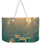 Early Morning Tractor In Farm Field Weekender Tote Bag