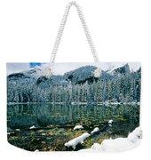 Early Snow At Nymph Lake Weekender Tote Bag