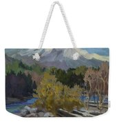 Early Snow Cascade Mountains Weekender Tote Bag