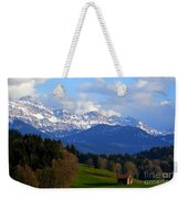Early Snow In The Swiss Mountains Weekender Tote Bag