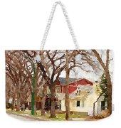 Early Spring Street Weekender Tote Bag