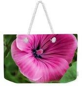 Early Summer Blooms Impressions - Bright Pink Malva - Vertical View Weekender Tote Bag