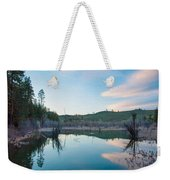 Early Sunset On A Beaver Pond  Weekender Tote Bag