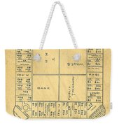 Early Version Of Monopoly Board Game Patent Weekender Tote Bag