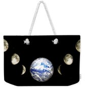 Earth And Phases Of The Moon Weekender Tote Bag