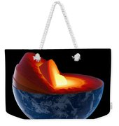 Earth Core Structure - Isolated Weekender Tote Bag