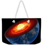 Earth Core Structure To Scale - Isolated Weekender Tote Bag by Johan Swanepoel