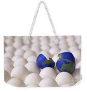 Earth Egg Torn Apart Weekender Tote Bag