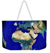 Earth From Space Europe And Africa Weekender Tote Bag