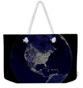 Earth Globe Lights Weekender Tote Bag
