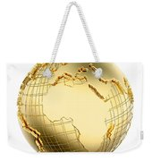 Earth In Gold Metal Isolated - Africa Weekender Tote Bag