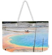 Earth Rainbow - Overhead View Of Grand Prismatic Spring In Yellowstone National Park.  Weekender Tote Bag