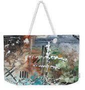Earth Wind And Fire Abstract Painting Madart Weekender Tote Bag by Megan Duncanson