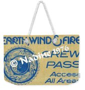 Earth Wind Fire Crew Pass 1976 Weekender Tote Bag