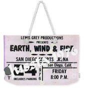 Earth Wind Fire San Diego Sports Arena Ticket September 24 1976 Weekender Tote Bag