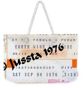 Earth Wind Fire Spirit Tour The Forum Concert Ticket Weekender Tote Bag