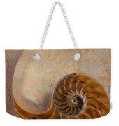 Earthy Nautilus Shell  Weekender Tote Bag
