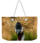 East African Crowned Crane Square Format Weekender Tote Bag