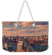 East River Bridges Weekender Tote Bag