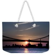 East River Sunrise - New York City Weekender Tote Bag