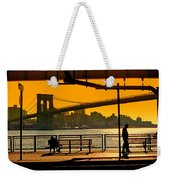 East River Sunset Weekender Tote Bag