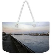 East River Vista 1 - Nyc Weekender Tote Bag