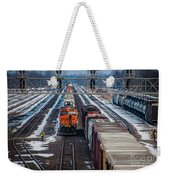 Eastbound And Westbound Trains Weekender Tote Bag