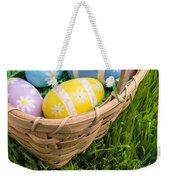 Easter Basket Weekender Tote Bag by Edward Fielding