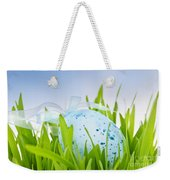 Easter Egg In Grass Weekender Tote Bag by Elena Elisseeva