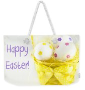 Easter Eggs In Basket Weekender Tote Bag