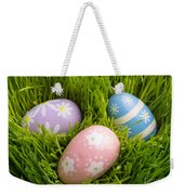Easter Eggs In The Grass Weekender Tote Bag