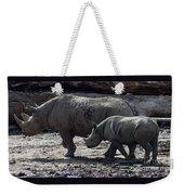 Eastern Black Rhinos Mama N Baby Weekender Tote Bag