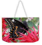 Eastern Black Swallowtail And Bee Balm Weekender Tote Bag