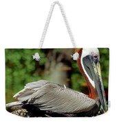 Eastern Brown Pelican Weekender Tote Bag