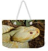 Eastern Diamondback Rattlesnake Albino Weekender Tote Bag