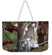 Eastern Screech Owl Red And Gray Phases Weekender Tote Bag
