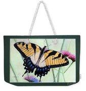 Eastern Tiger Swallowtail Butterfly By George Wood Weekender Tote Bag