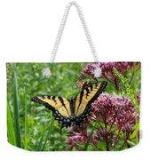 Eastern Tiger Swallowtail On Joe Pye Weed Weekender Tote Bag