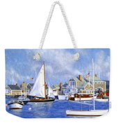 Easy Street Basin Blues Weekender Tote Bag by Candace Lovely