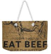 Eat Beef Weekender Tote Bag