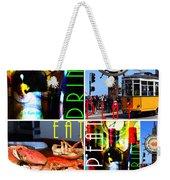 Eat Drink Play Repeat San Francisco 20140713 Vertical V1 Weekender Tote Bag