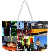 Eat Drink Play Repeat San Francisco 20140713 Vertical V2 Weekender Tote Bag