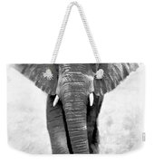 Ebony Ivory African Elephant Weekender Tote Bag