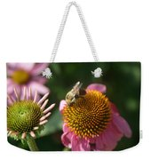Echinacea And Bee Weekender Tote Bag