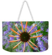 Echinacea Mango Weekender Tote Bag