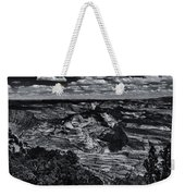 Echo Park From The Ridge Black And White Weekender Tote Bag