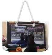 Eclipse Watching Herself On Computer Monitor Weekender Tote Bag